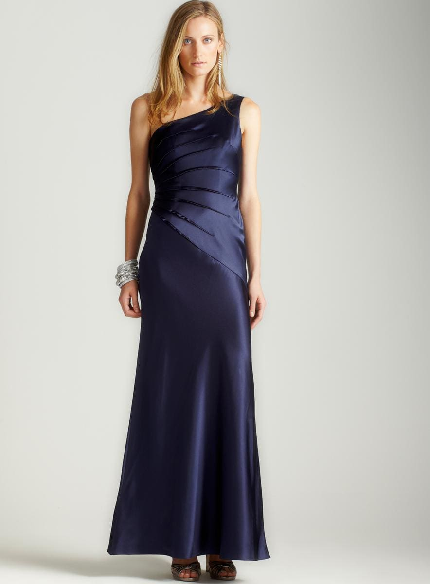 Adrianna Papell One Shoulder Sunburst Gown - Thumbnail 0