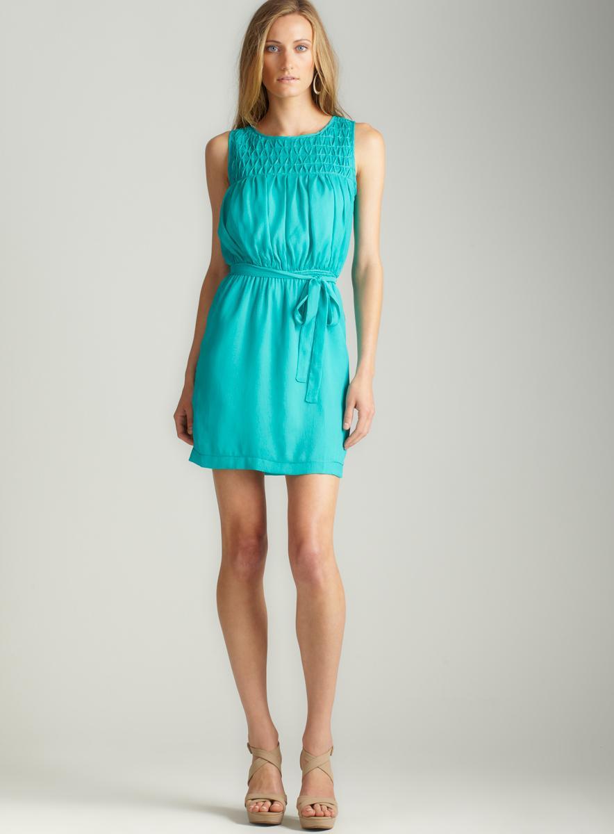 Max Studio Pebbled Shirting Dress
