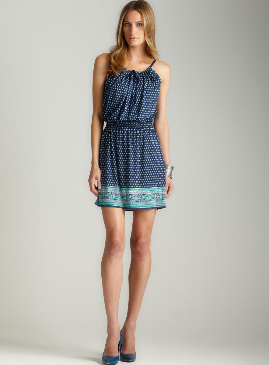 Max Studio Tie Front Matte Jersey Dress