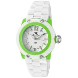 Glam Rock Women's 'Miss Miami Beach' White Polycarbonate Watch