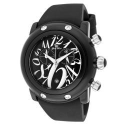 Glam Rock Unisex 'Miami Beach' Black Silicone Watch