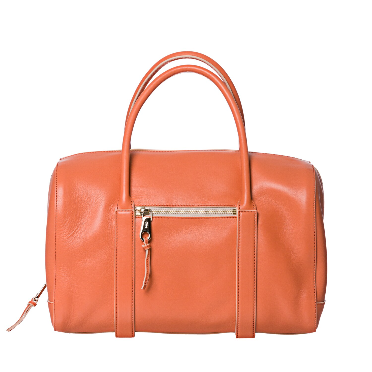 Chloe 'Madeline' Papaya Leather Runway Satchel - Thumbnail 0