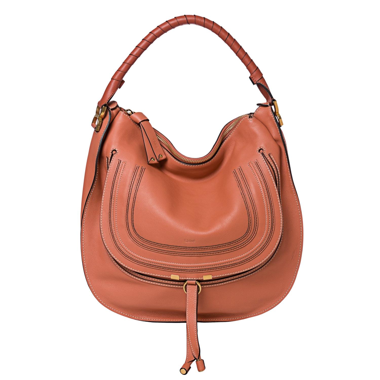 Chloe 'Marcie' Large Coral Leather Hobo Bag