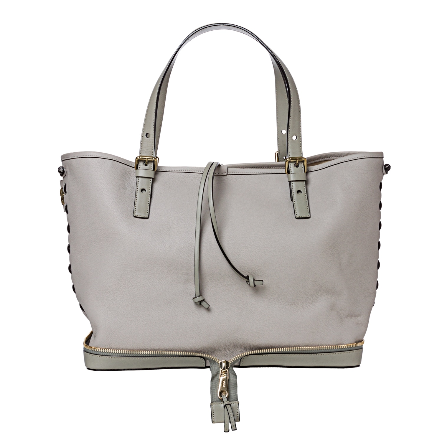 Chloe 'Ellen Moyen' Grey Leather Tote Bag - Thumbnail 0