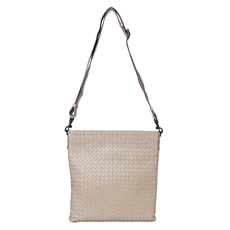Bottega Veneta 'Intrecciato' Cream Leather Crossbody Bag