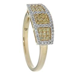 D'sire 10k Yellow Gold 1/3ct TDW Yellow and White Diamond Ring (H-I, I2-I3) - Thumbnail 1