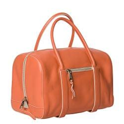 Chloe 'Madeline' Papaya Leather Runway Satchel - Thumbnail 1