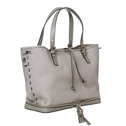 Chloe 'Ellen Moyen' Grey Leather Tote Bag - Thumbnail 1