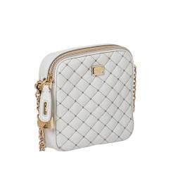 Dolce & Gabbana White Quilted Leather Cross-body Bag - Thumbnail 1