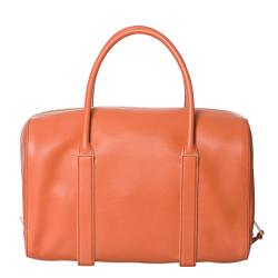 Chloe 'Madeline' Papaya Leather Runway Satchel - Thumbnail 2
