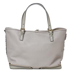 Chloe 'Ellen Moyen' Grey Leather Tote Bag - Thumbnail 2