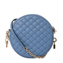 Dolce & Gabbana Baby Blue Quilted Leather Round Cross-body Bag - Thumbnail 2