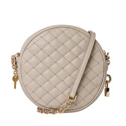 Dolce & Gabbana Taupe Quilted Leather Round Cross-body Bag - Thumbnail 2