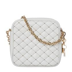 Dolce & Gabbana White Quilted Leather Cross-body Bag - Thumbnail 2