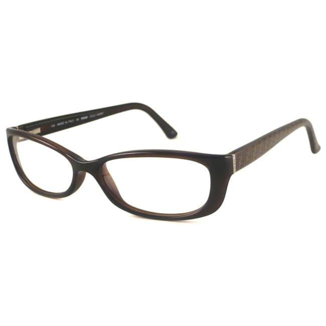 Fendi Readers Women's F881 Brown Rectangular Reading Glasses