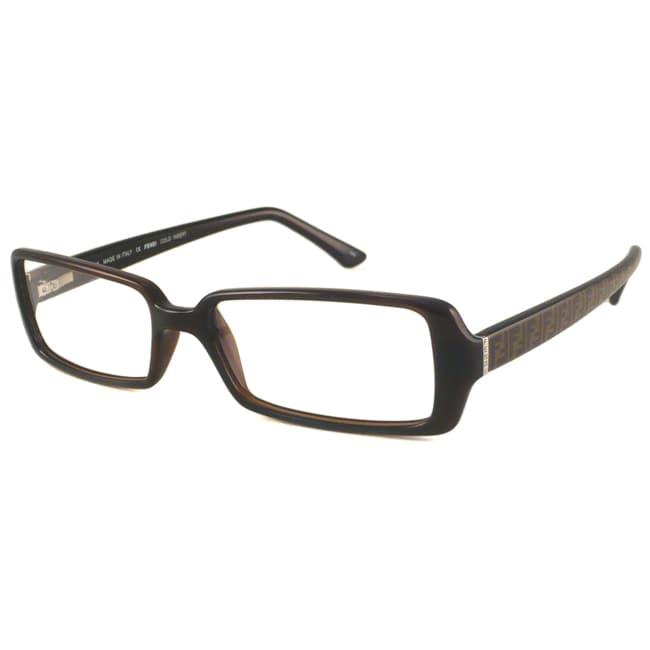 Fendi Readers Women's F882 Brown Rectangular Reading Glasses