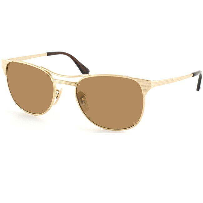Ray-Ban Unisex 'RB 3429 Signet 001/M2' Arista Gold Metal Polarized Sunglasses
