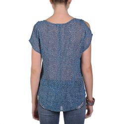 T by Hailey Jeans Co. Women's Short-sleeve Printed V-neck Top - Thumbnail 1