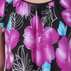 Tressa Designs Women's Contemporary Plus Short-sleeve Smocked Top - Thumbnail 2