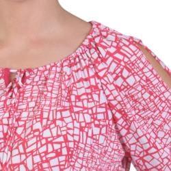 Tressa Designs Women's Contemporary Plus Half Sleeve Boat Neck Top - Thumbnail 2