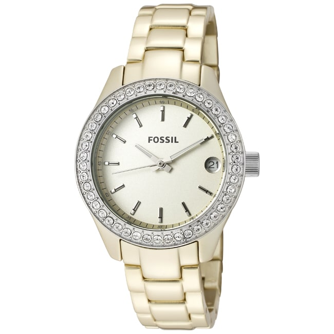 Fossil Women's 'Stella' Champagne Aluminum Watch