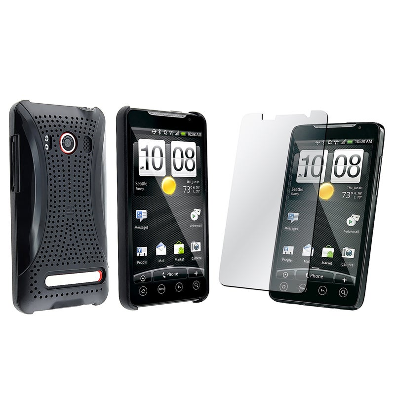 Black Case/ Screen Protector for HTC EVO 4G