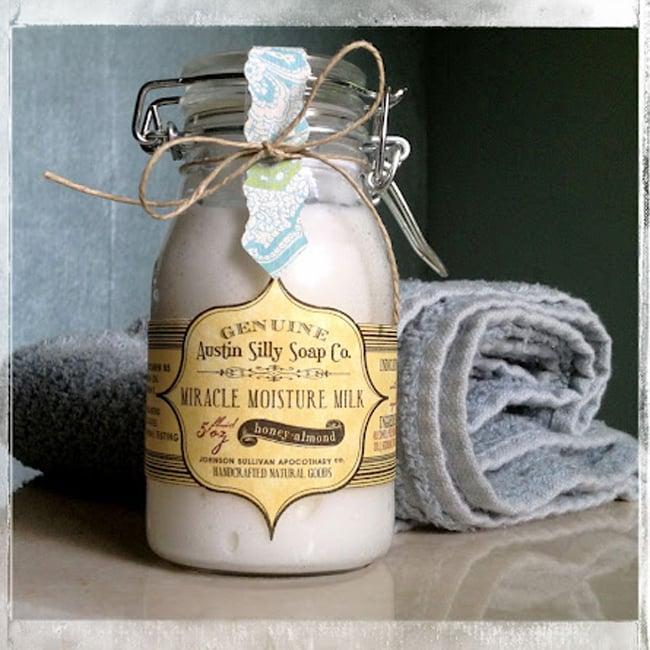 "Natural Honey Almond Lotion Creme | Handmade ""Miracle Moisture Milk"""