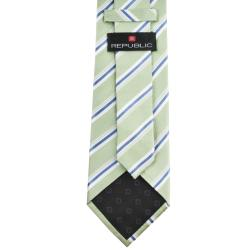 Republic Men's Silk Pinstriped Neck Tie - Thumbnail 1