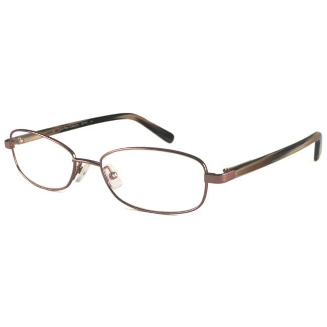 Calvin Klein Readers Men's/ Unisex CK7241 Brown Rectangular Reading Glasses