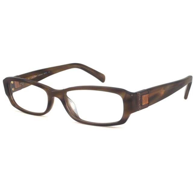 Calvin Klein Readers Women's CK7711 Brown Rectangular Reading Glasses