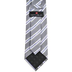 Republic Men's Silk Pinstriped Tie - Thumbnail 1