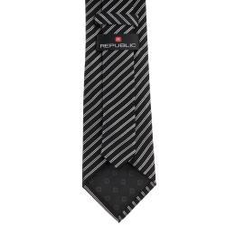Republic Men's Silk Pinstriped Tie - Thumbnail 1