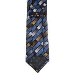 Republic Men's Silk Patterned Tie - Thumbnail 1