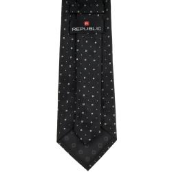 Republic Men's Dotted Black Tie