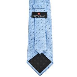 Republic Men's Dotted Light Blue Tie - Thumbnail 1