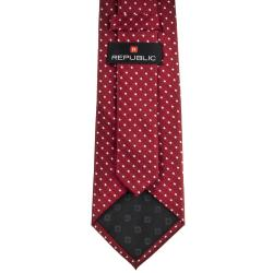 Republic Men's Dotted Red Tie - Thumbnail 1