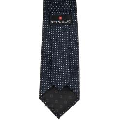 Republic Men's Dotted Black Tie - Thumbnail 1
