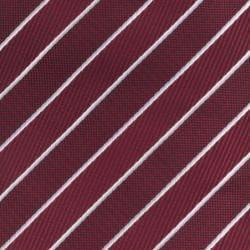 Republic Men's Red/White Striped Woven Microfiber Tie - Thumbnail 2