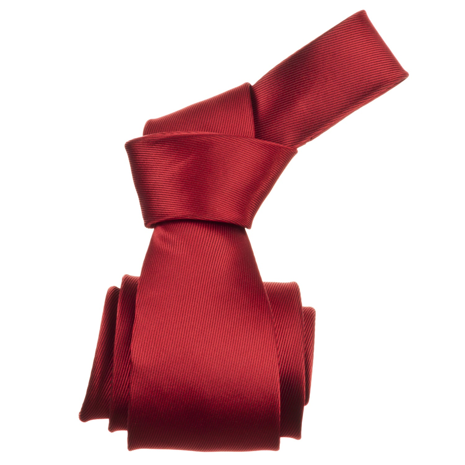 Republic Men's Solid Red Tie - Thumbnail 0
