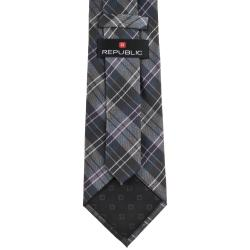 Republic Men's Striped Woven Microfiber Tie