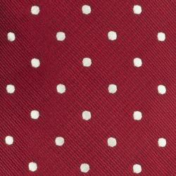 Republic Men's Silk/Polyester Dotted Red Tie