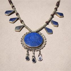 Handcrafted Tribal Lapis Lazuli Necklace (Afghanistan) - Thumbnail 1