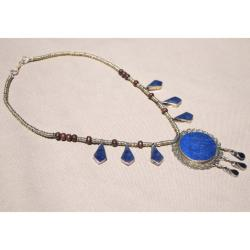 Handcrafted Tribal Lapis Lazuli Necklace (Afghanistan) - Thumbnail 2