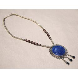 Handcrafted Tribal Lapis Lazuli Necklace (Afghanistan)