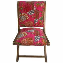 Fine Nuloom Handmade Bombay Floral Fuchsia Upholstered Folding Chair Overstock Com Shopping The Best Deals On Dining Chairs Ibusinesslaw Wood Chair Design Ideas Ibusinesslaworg