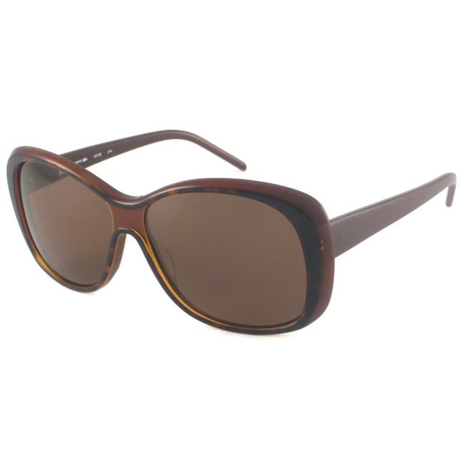 Lacoste Women's L610S Rectangular Sunglasses with Brown Frame