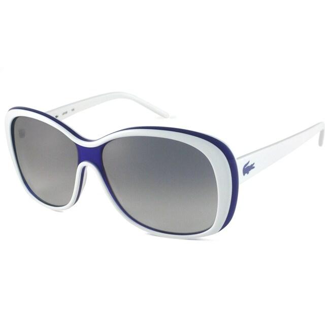 Lacoste Women's L610S Rectangular Sunglasses with White Frame