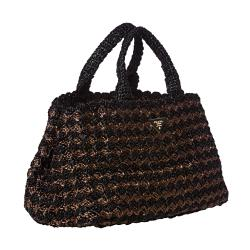 Prada Bi-color Raffia Tote Bag - Thumbnail 1