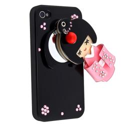 Black Kimono Girl Mirror Snap-on Case for Apple iPhone 4/ 4S - Thumbnail 1