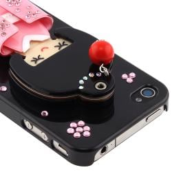 Black Kimono Girl Mirror Snap-on Case for Apple iPhone 4/ 4S - Thumbnail 2